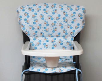 Eddie Bauer Newport or safety 1st wooden highchair cover, chair replacement pad, baby feeding chair pad, nursery, kids furniture, turtles