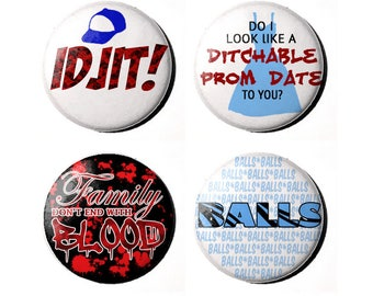 "Supernatural Bobby Singer 1"" Badges"