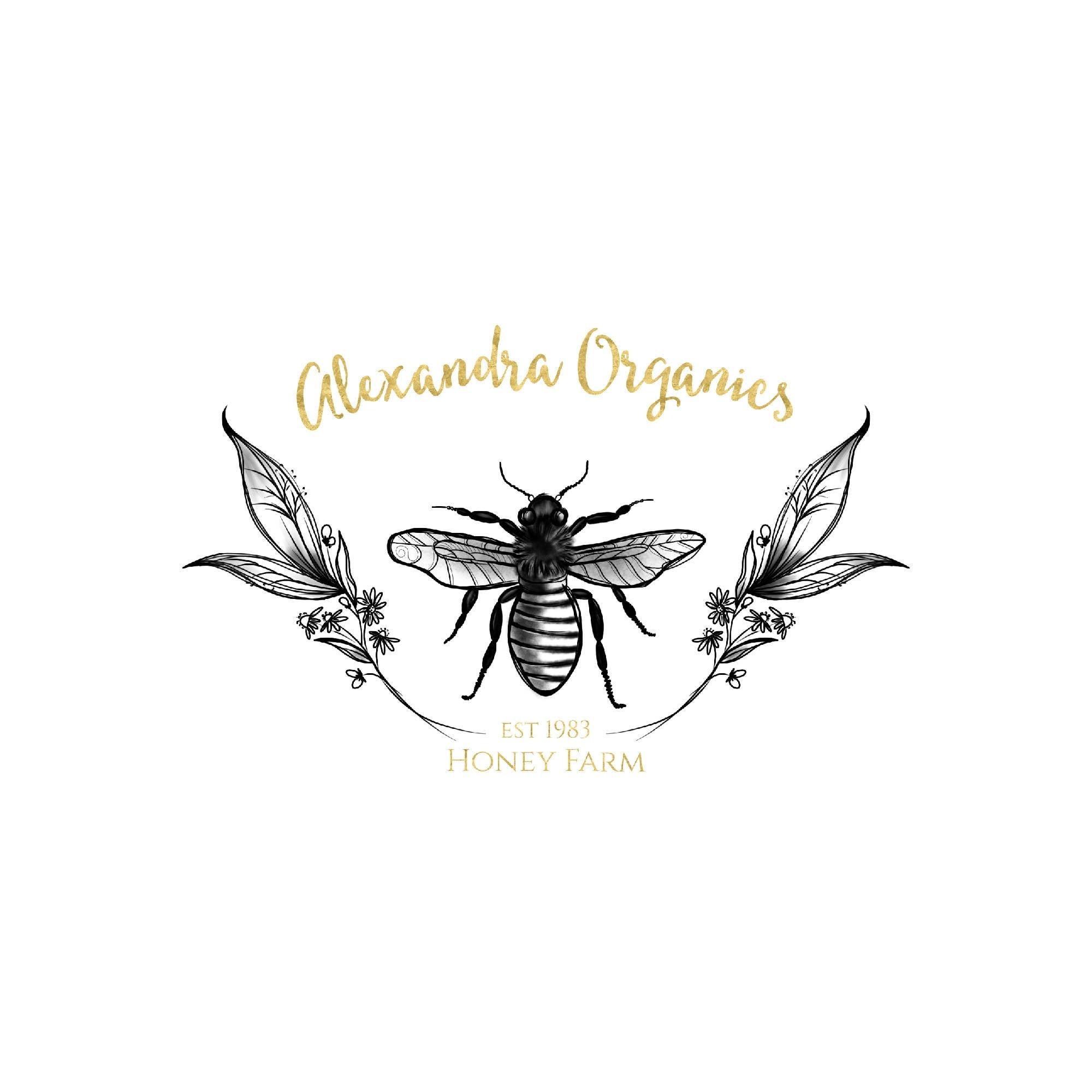 gold bee logo design honey bee logo leaf logo leaves logo hand