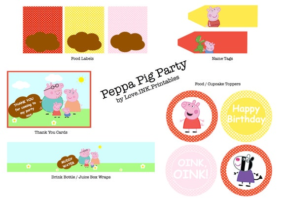 Peppa Pig Party Printables By Love Ink Printables Catch My Party