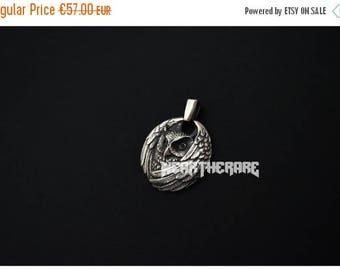 ON SALE Owl Neckace Bird Pendant Sterling Silver Owl Jewelry