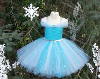 Elsa Inspired Tutu Dress (Headband Sold Separately) Elsa Costume, Elsa Tutu Dress, Elsa Birthday, Elsa Dress, Elsa Cosplay, Elsa Birthday