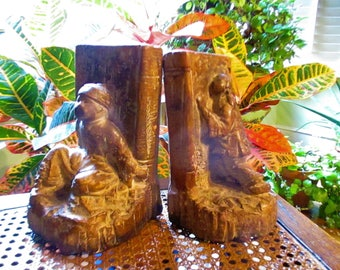 Asian antique bookends, Oriental antique bookends, sophisticated gift idea, antique gift idea, oriental bookends, antique bookends