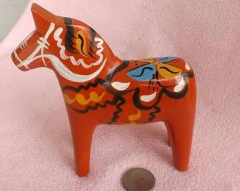 Swedish Dala Orange Horse