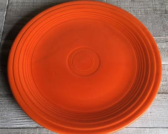 """Vintage Fiesta 9"""" Luncheon Plate - Red / """"Radioactive Red"""""""
