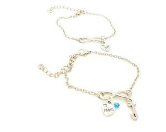 Infinity mom bracelet