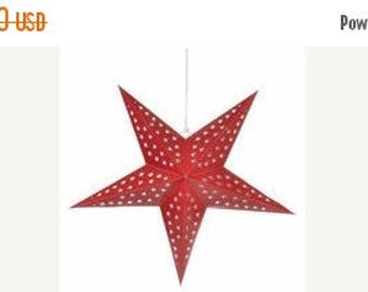 "Christmas in July Deals 24"" 5 Point Star Lanterns"