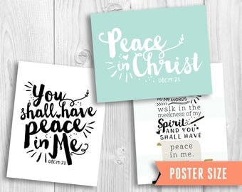 Poster Size 2018 Mutual Theme LDS, Peace in Christ, YW theme, young women