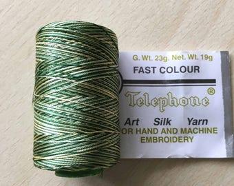 rayon thread / artificial silk 536 yellow green