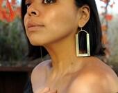 THE MAYA EARRINGS| Brass Earrings, Gold Earrings, Women's Earrings, Handmade Earrings, Handmade Jewelry, Large Earrings