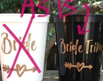 SALE- AS IS | Bachelorette | Bachelorette Party Favor | Bride Tribe Cups, Reusable Cups, Bachelorette Cups, 16 Oz Stadium Cup, Bride Tribe