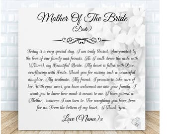 Mother of the Bride from Groom Personalised Ceramic Plaque