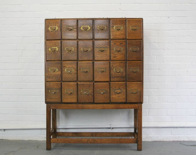 Early 20th Century Doctors Oak Filing Drawers