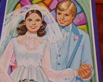 Whitman Bride and Groom Paper Dolls 1970s