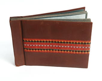Vintage Brown canvas Photoalbum, Retro Photos Cover, Brown Album Pictures, Vintage photo album