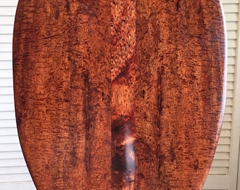 Rare Curly Koa Paddle - Hawaiian Outrigger Canoe Paddling