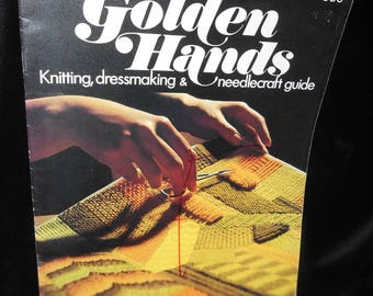 Knitting Dressmaking Needlecraft Guide Golden Hands Part 4 Volume 1 Vintage 1971