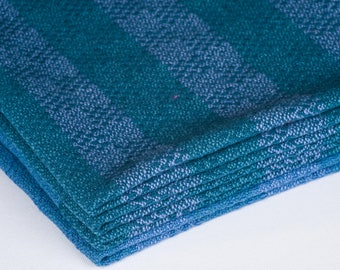 Cotton/Linen Handwoven Dish Towels Blue Periwinkle Lavender Gift Housewarming Holiday