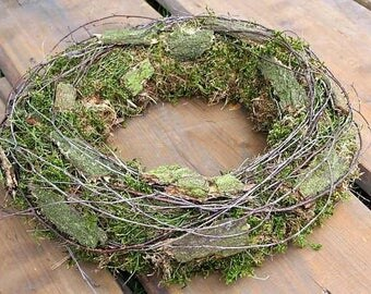 Dekokranz wreath Wandkranz Wreath Natural wreath Country house 42 cm