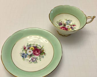 Paragon Hand Painted Fine English Bone China Teacup and Saucer.