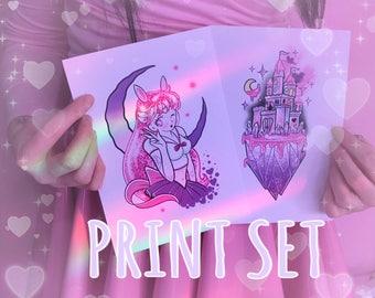 PRINT SET - Kawaii Scout & Kawaii Castle