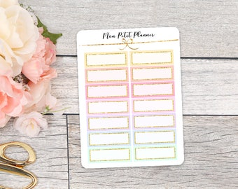 Pastel Quarter Boxes II Planner Stickers