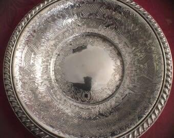 Vintage Silver Plate Bon Bon Bowl