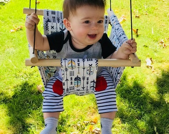 Baby Fabric Swing. Indoor Outdoor Baby Todlder Swing.