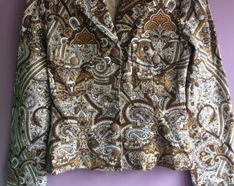 Paisley print reconstructed reclaimed jacket