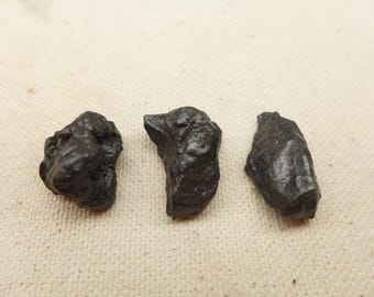 Meteorite M11 - Meteorite Specimens (3) - Nantan Meteorite - Nickel-Iron Meteorite  Ring Size Meteorite