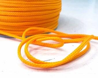 Cord 4mm orange yellow