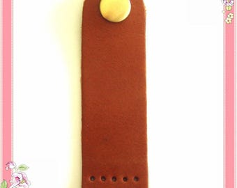 5 Pocket buckle real leather Brown