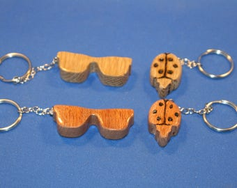 Handcrafted Wood Keychains