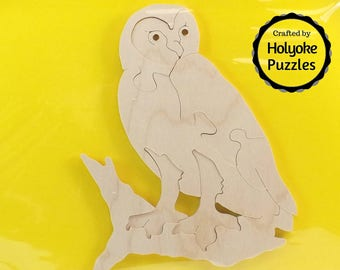 Owl Wood Puzzle - Color Your Own Craft Puzzle - Kids Craft Project