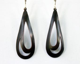 Copper Earrings: Almond Style