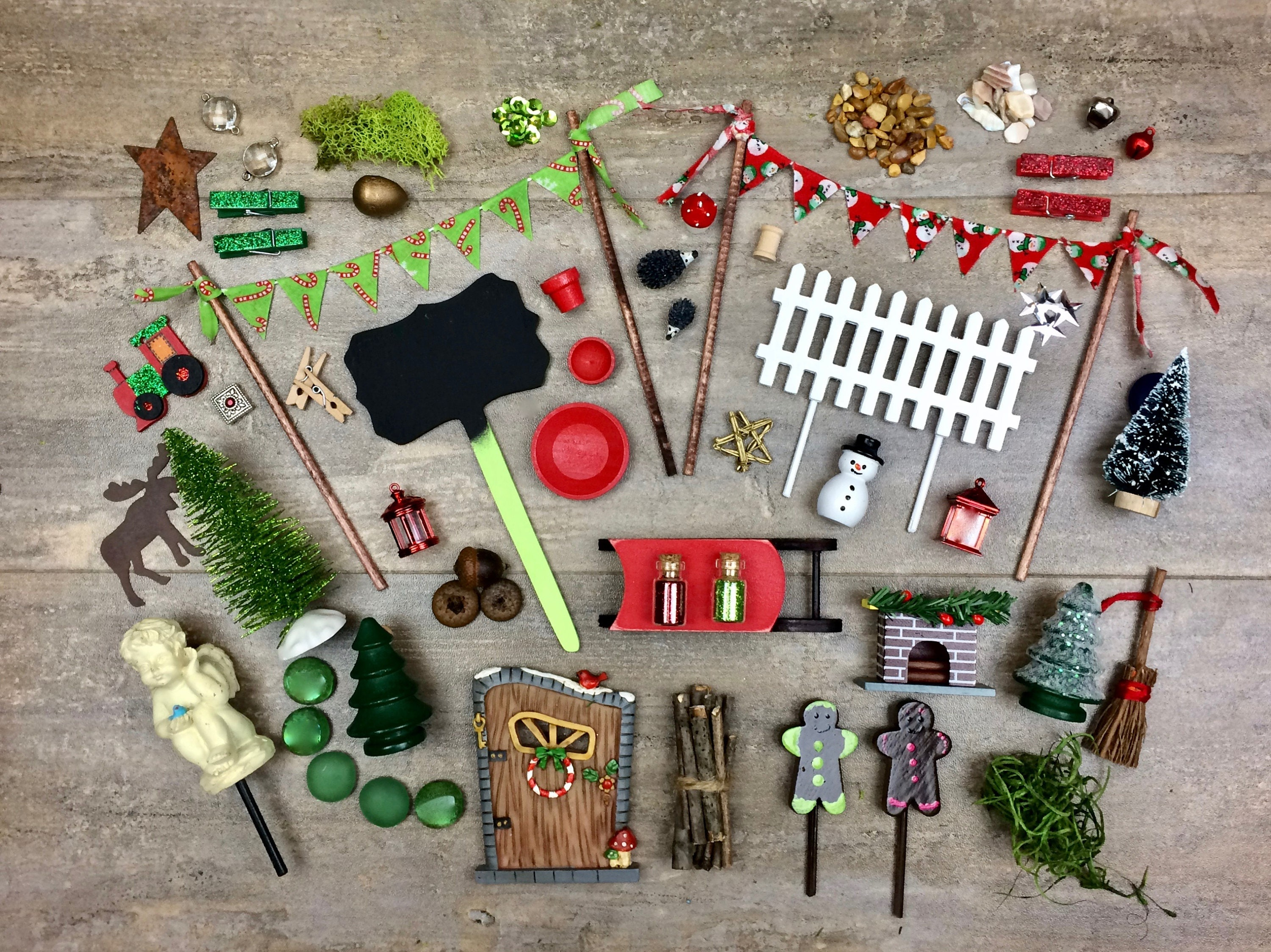 diy christmas fairy garden accessories grab bag kids craft