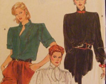 41% OFF 1980's Misses' Loose Fitting Blouse Vogue Sewing Pattern 8839 Size 14 Bust 36""