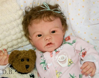 """Ready to Ship! Reborn Doll Baby Girl Adeline by Ping Lau Anatomically Correct Almost Full Body! 20"""" Doll"""