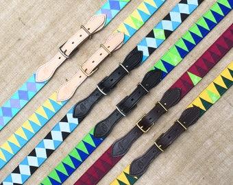 Custom Stirrup Buckle Belt with Grosgrain Ribbon