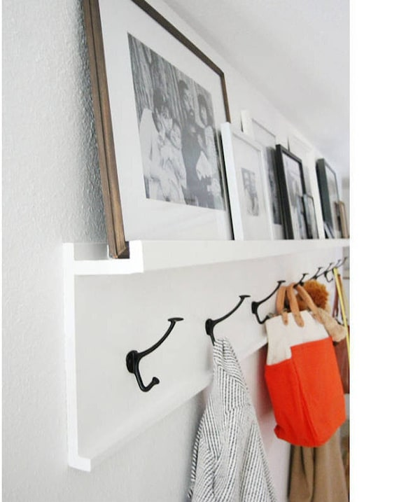 Wall Coat Hooks coat rack floating shelf shelf coat hook rustic coat rack wall