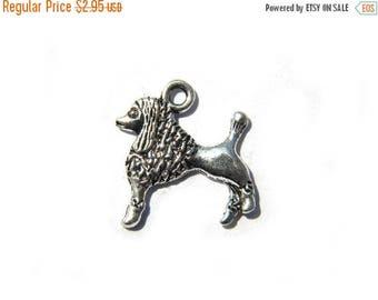 HALF PRICE 6 Silver Poodle Charms  - Dog Charm
