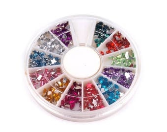 Wheel rhinestone decorations all colors