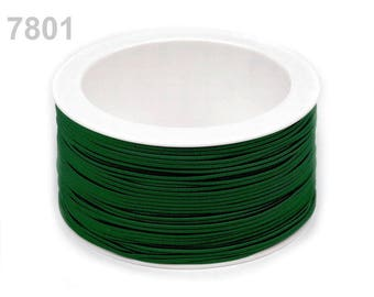3 m elastic round 1.2 mm Green 7801