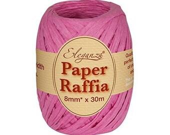 8 mm fuchsia pink raffia Ribbon