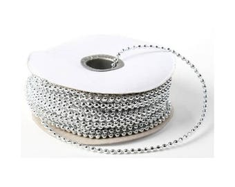 3 metre wire beads 4 mm silver wire
