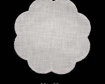 Flower shape fine canvas cotton and modal