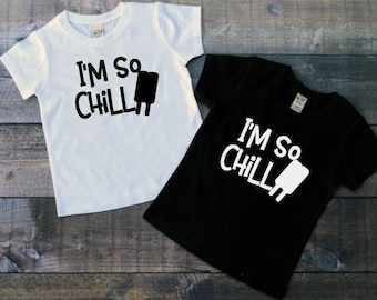 I'm So Chill Tee, Popsicle Summer shirt, Chill Popsicle Tee, Summer boys shirt, Toddler girl shirt, Toddler boy shirt, Hipster toddler shirt