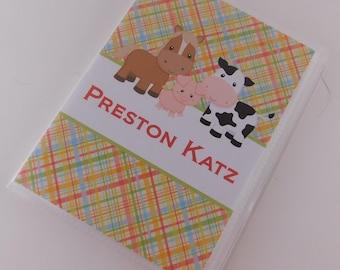 Baby Photo Album Grandmas Brag Book Boy Photo Album Girl Photo Album Barnyard Cow Horse Pig 4x6 or 5x7 farm Animal Baby Shower Gift 717