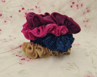 Galaxy-inspired Scrunchies (Set of 4). Galaxy-themed Scrunchies. Space-themed Scrunchies. Scrunchie Set. Vintage Scrunchies.