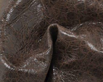 "Mocha Drizzle Leather New Zealand Deer Hide 8"" x 10"" Project Piece 1 1/2 ounces TA-56417 (Sec. 4,Shelf 6,C)"